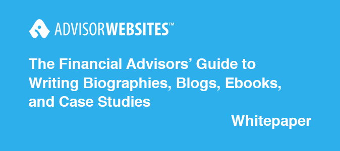 financial advisors guide to writing biographies