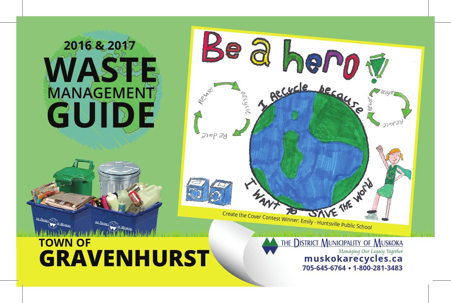 2016 2017 gravenhurst waste management guide