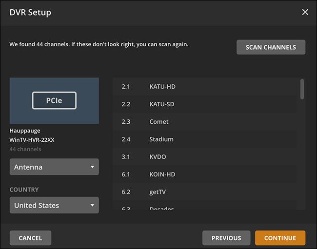 plex dvr program guide is empty
