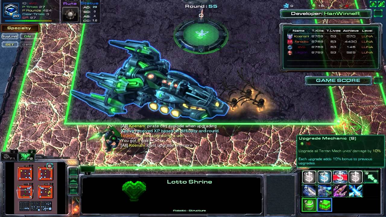 sc2 min max guide for lottery defence