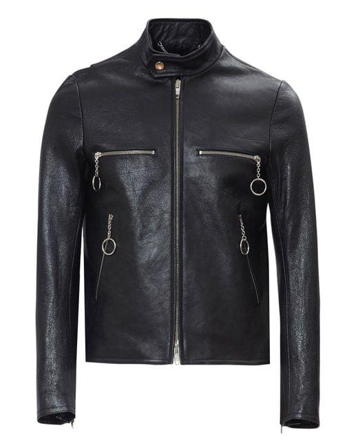 balenciaga leather jacket size guide