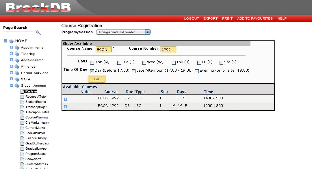 https brocku.ca registrar guides-and-timetable spring-summer timetable