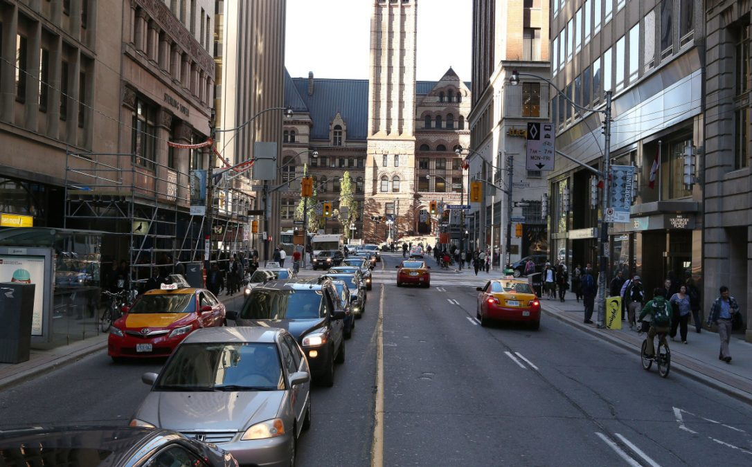 trafic guide map downtown toronto